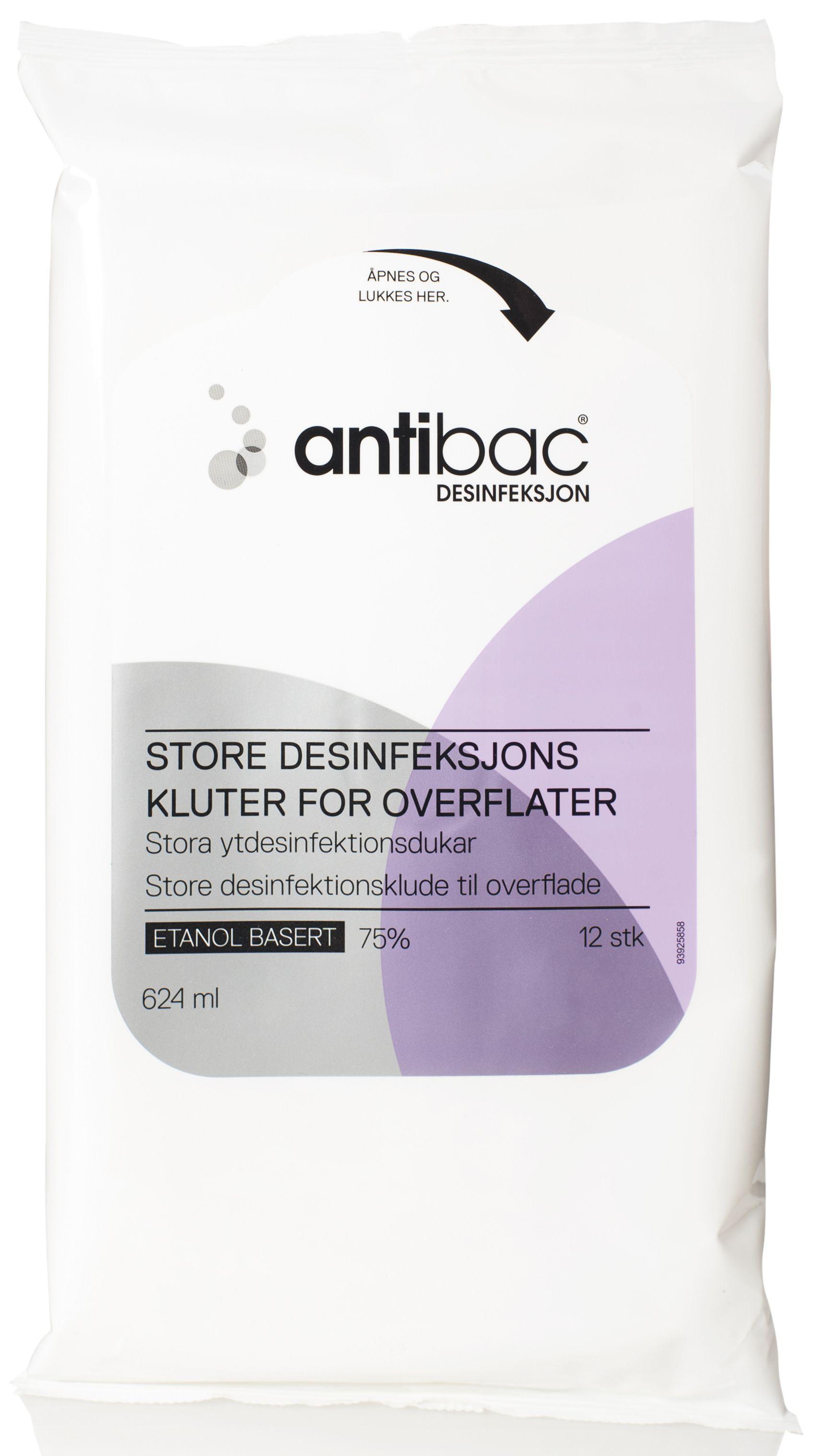 Antibac Desinfeksjonskluter 24x40cm (12) Y486927