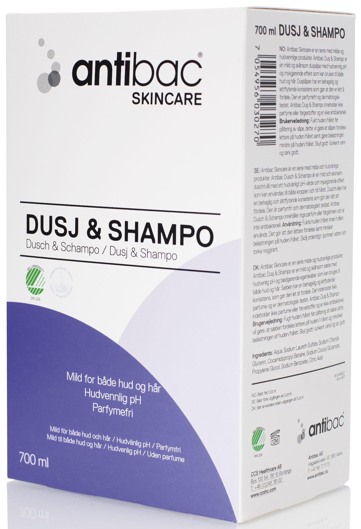 Dusj & Shampo ANTIBAC Softbag 700ml 603027