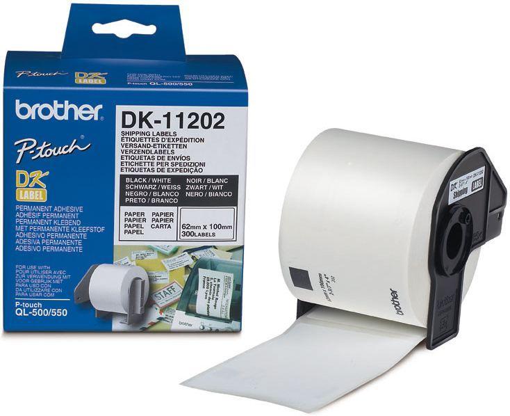 Brother Leveranse Etikett 62x100mm (300stk) DK-11202