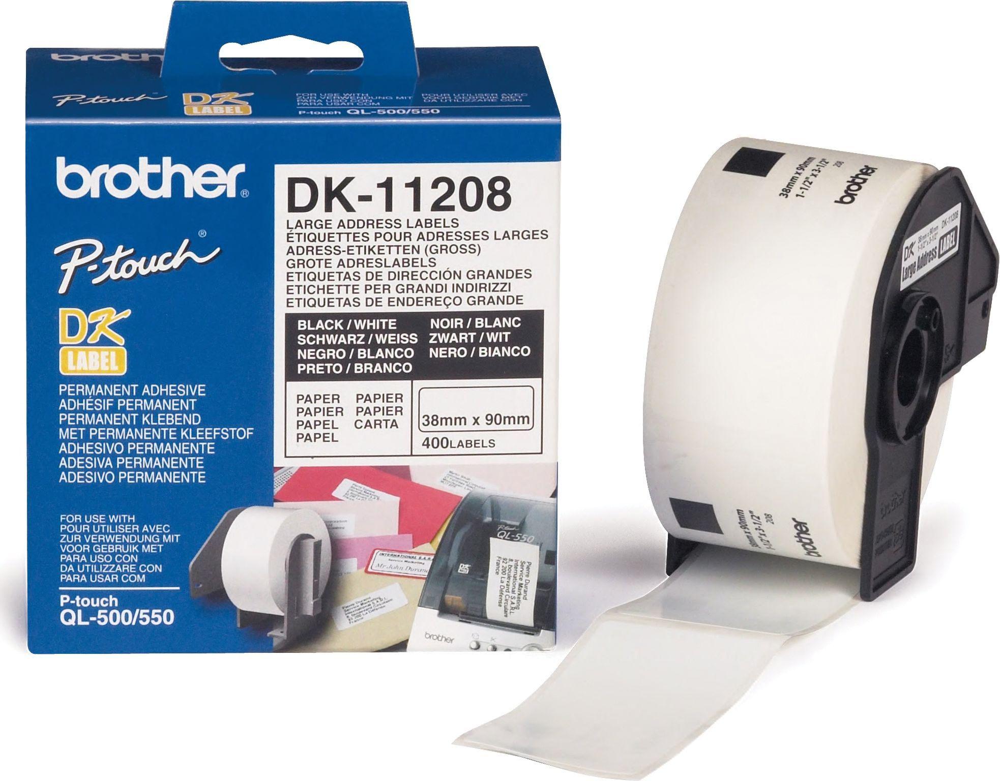 Brother Addresse Etikett 38x90mm (400stk) DK-11208